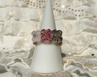 Swarovski Crystal Casual Ring - size 9