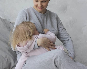 Suit Breastfeeding - Nursing clothes - Breastfeeding clothes - Nursing sweatshirt - Breastfeeding sweatshirt - Maternity - Pregnancy clothes
