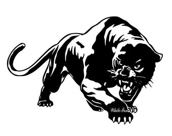 Panther Stencil Etsy