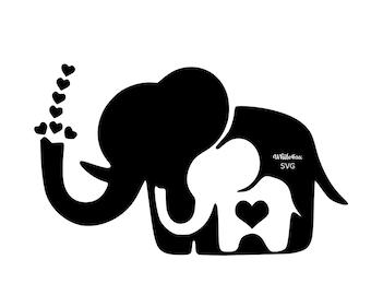 baby elephant svg etsy