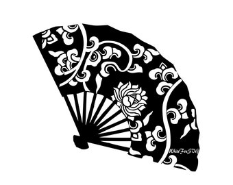 hand fan template etsy