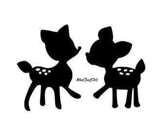 Baby deer svg | Etsy