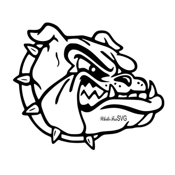 Bulldog Clipart Stencil Template Transfer Svg Vector File For