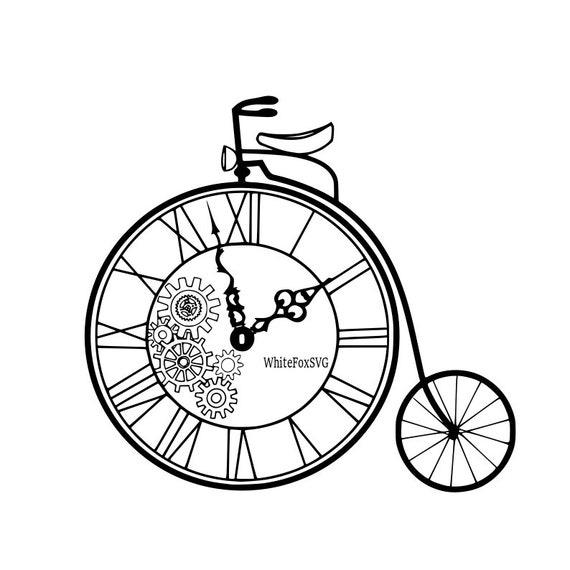 Clock Bicycle Vintage Bicycle Bike Clock Time Transportation