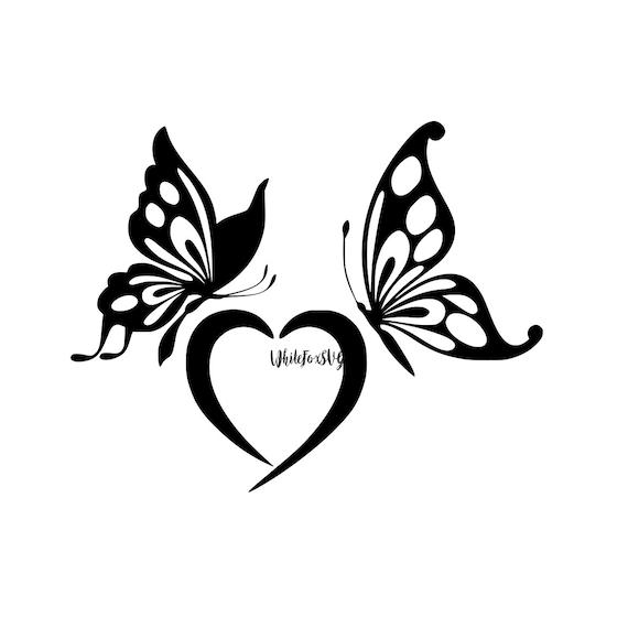 Beautiful Butterfly Svg Heart Svg Love Symbol Garden Svg