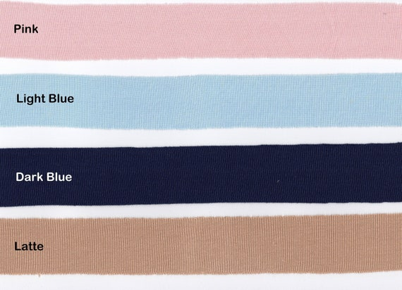 SOLD BY THE METRE IVORY AND LIGHT PINK STRETCH RIB JERSEY FABRIC