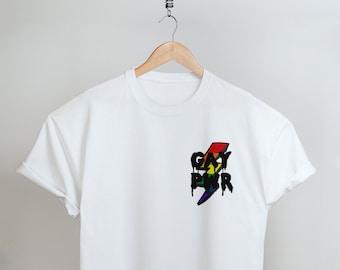 LGBT Shirt, Pride Shirt, Rainbow Pride, Pocket Tee, Gay Power, Pride Month, Slogan T Shirts, Gay Pride, Lesbian Shirt, LGBTQ Pride