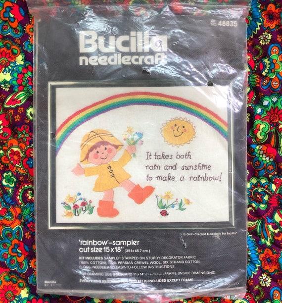 Rainbow Rain Cross Stitch Kit