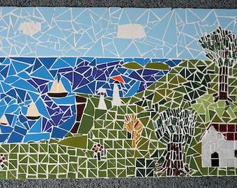 Mosaic lake landscape picture
