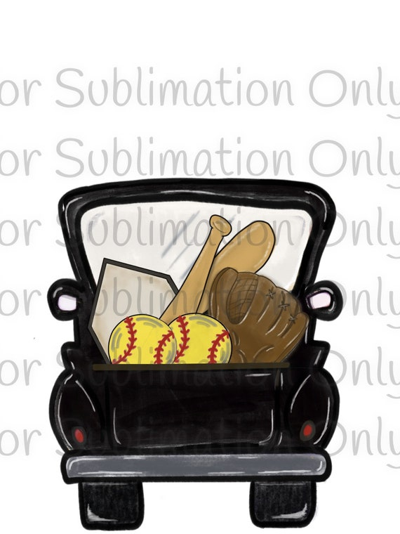 Softball Truck Sublimation Transfer