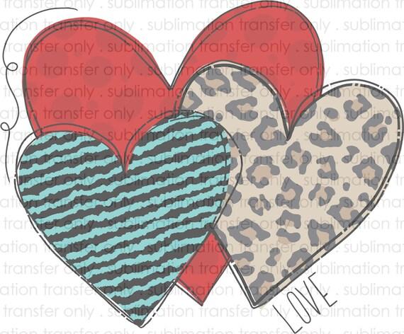 Hearts Love Sublimation Transfer