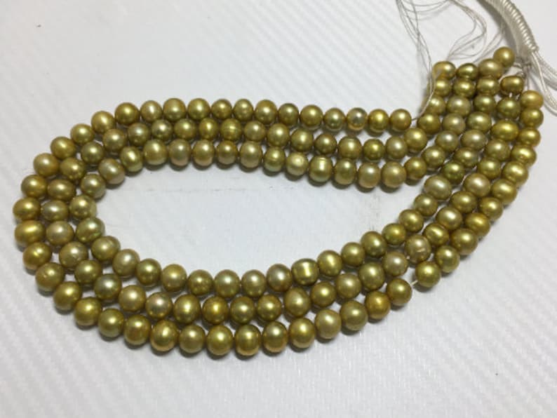 Approx Green Pearl beads Oval Freshwater Beads Full Strand 16inches strand 47-pcs 8.5-9 mm Natural Freshwater Pearl Strand