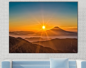 lake district morning new canvas split prints on wooden bars