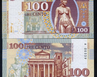 San Marino, 100 Lire, 2018, Private Issue, Essay, only 750 issued, UNC