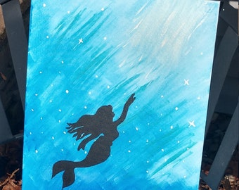 Mermaid Water color painting