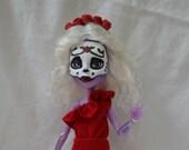 Day of the Dead Doll, Dia de los Muertos Muneca, Sugar Scull Doll