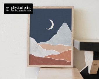 Abstract Night Landscape Art Print Framed, Unframed or Hanger - Fine Art Print - Painting Art, Boho Art, Mid century Art,Modern Art,Bohemian