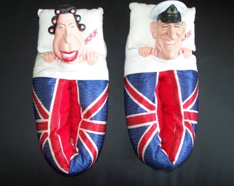 Queen Elizabeth II & Prince Philip Slippers