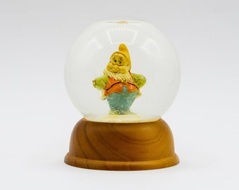 Vintage Disney Snow Globe, Happy, NE The First Limited Edition Disney Crystal Snow Globe, Birthday or Christmas Gift, Collectible