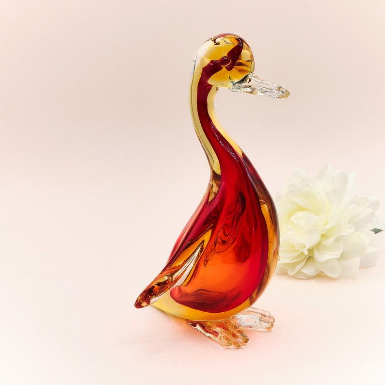 Duck Murano Bird Vintage Venetian Glass Animal Figurine Dark Red /& Yellow Hand Blown Art Glass Sculpture Murano Glass Sculpture