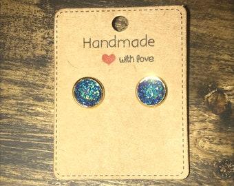 Blue druzy earrings!