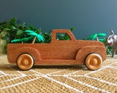 Wooden toy car 50's Chevy Pickup Truck