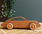 Wooden toy car Porsche