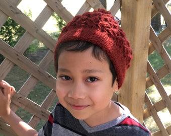 Handmade Kid's Maroon Touque