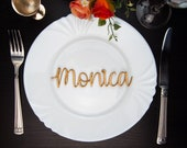 Personalized place cards Place name settings Guest names Wooden wedding Laser cut table names Wedding signs Wedding invitation Escort cards