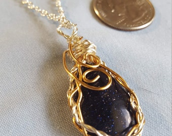 Blue Sunstone Pendant