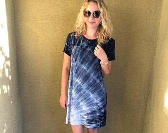 Short Sleeve Scoop Dress M/L