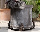 Bronze Coloured Beatrix Potter Peter Rabbit Potty Feet Plant Pot Feet x 3 - Pot Risers, Pot Stands, Plant Supports, Yard Art.