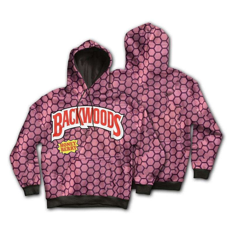 Backwoods x KannaBling - Hoodie Backwoods Honey Berry Sweatshirt (Option to  include Authentic Kannabling Nuglace)