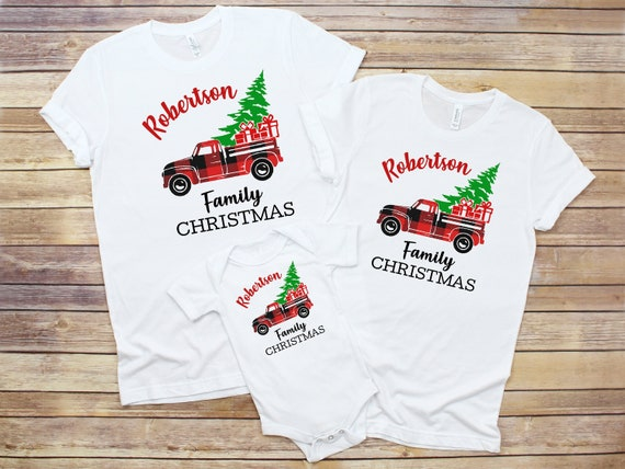 dcce0270df Christmas family pajamas matching personalized red truck