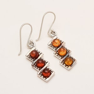 Real Poland Black Amber Sun Earrings 925 Sterling Silver Designer Women Jewelry Handmade Retro Fine Antique Anniversary Charm Gifts Jewelry