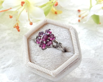 Size 7 Pink Tourmaline Sterling Silver Ring  New Vintage Wholesale