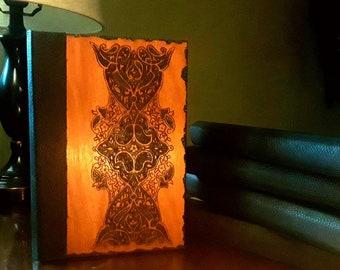Blank Lined Journal, Lace pattern