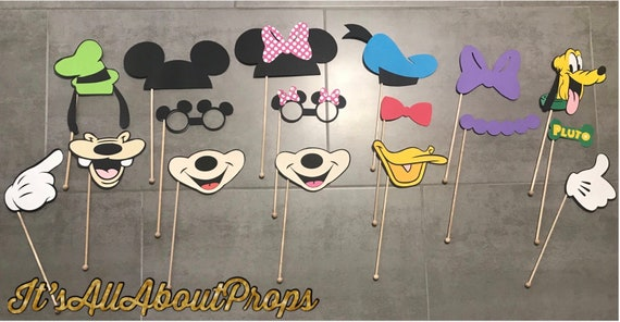 Mickey Mouse Clubhouse Photo Booth Props Mickey And Friends Etsy