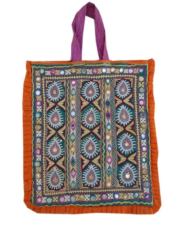 Vintage Handmade Kutchi Tote Bags Indian Hand Embr