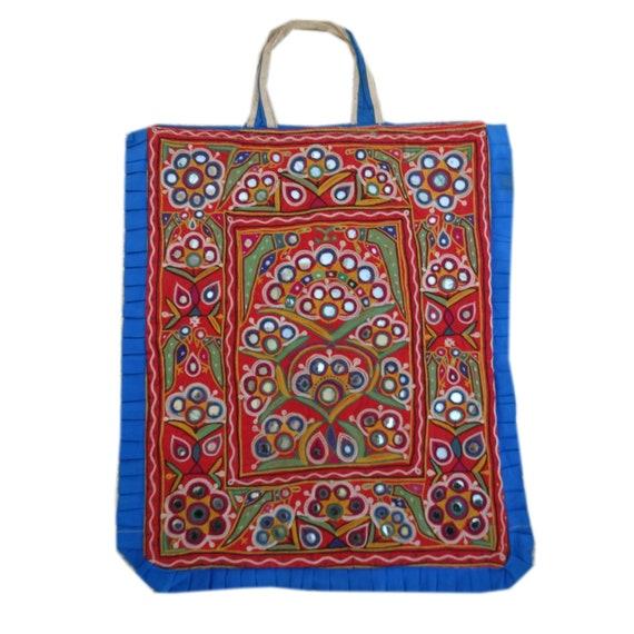 Hand Embroidered Kutchi Hand Bag Vintage Handmade