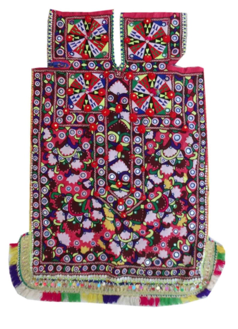 Indian Hand Embroidered Cotton Patch Vintage Handmade Banjara Dress