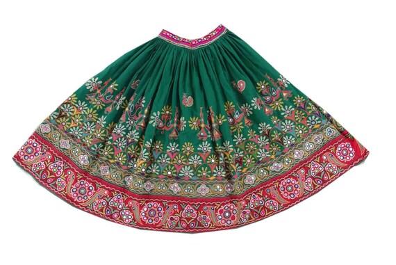Antique Handmade Tribal Kutchi Skirts Vintage Embroidered Indian Belly Dance Skirt  SKT09