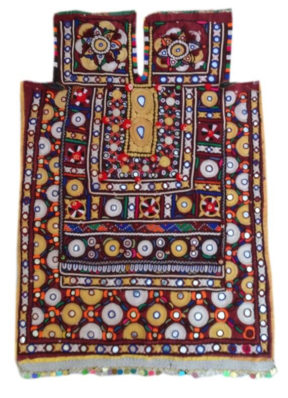 Ethnic Dress Vintage Handmade Banjara Yoke Indian