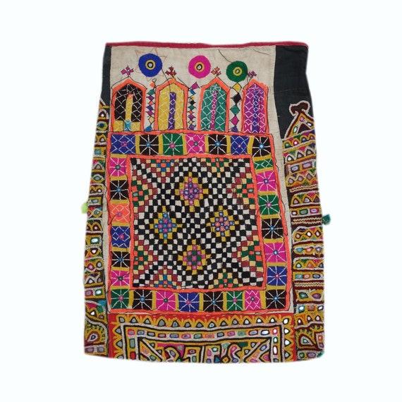 Vintage Hand Embroidered Bag Indian Handmade Tote