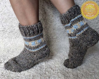 Unique Sheep's Wool Socks 100% Natural Warm Handmade Casual All Sizes New