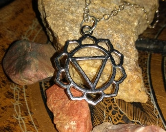 Third eye chakra pendant necklace