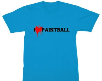 T-Shirt for Paintball lovers -  I heart Paintball print in many colours