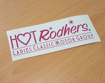 Hot Rodhers 20cm Decal - Pink