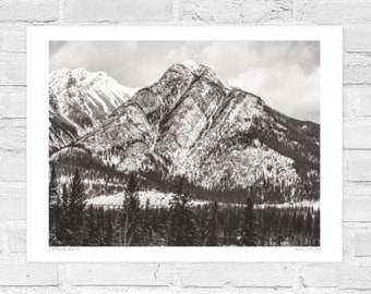 Banff National Park Alberta Canada, Mountain Landscapes, Free Delivery, Black and White Photography,  Poster Prints, Rockies.