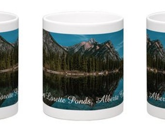 Coffee Mug, Free Delivery, Landscape Photography, Train, Kananaskis, Cup, Alberta Canada, Mountains, Photography, The Perfect Gift, Java.